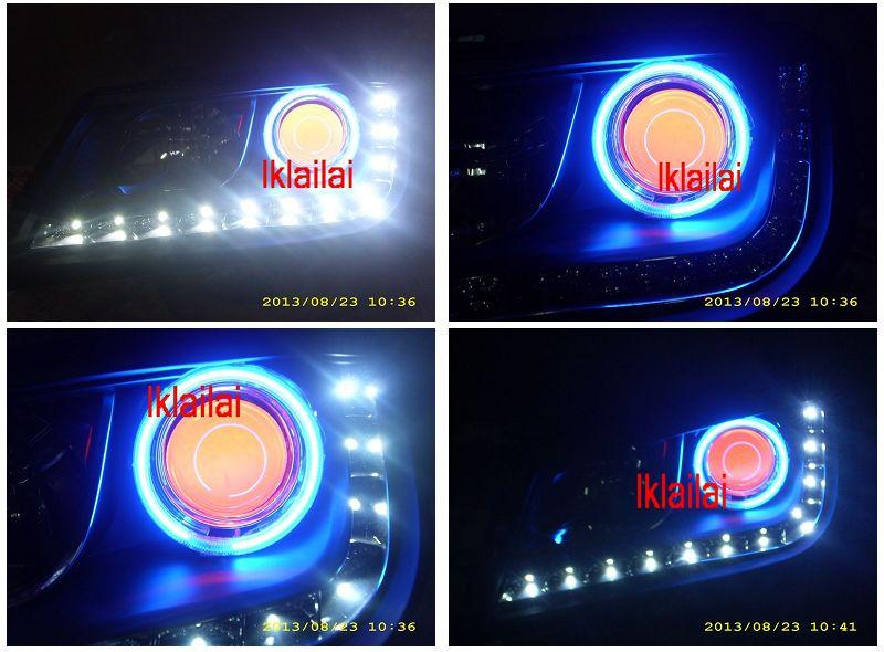 Proton Waja DRL R8 Projector Head Lamp Colour CCFL Ring + Angel Eye