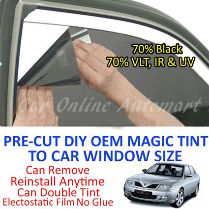 Proton Waja Magic Tinted Solar Window ( 4 Windows ) 70% Black