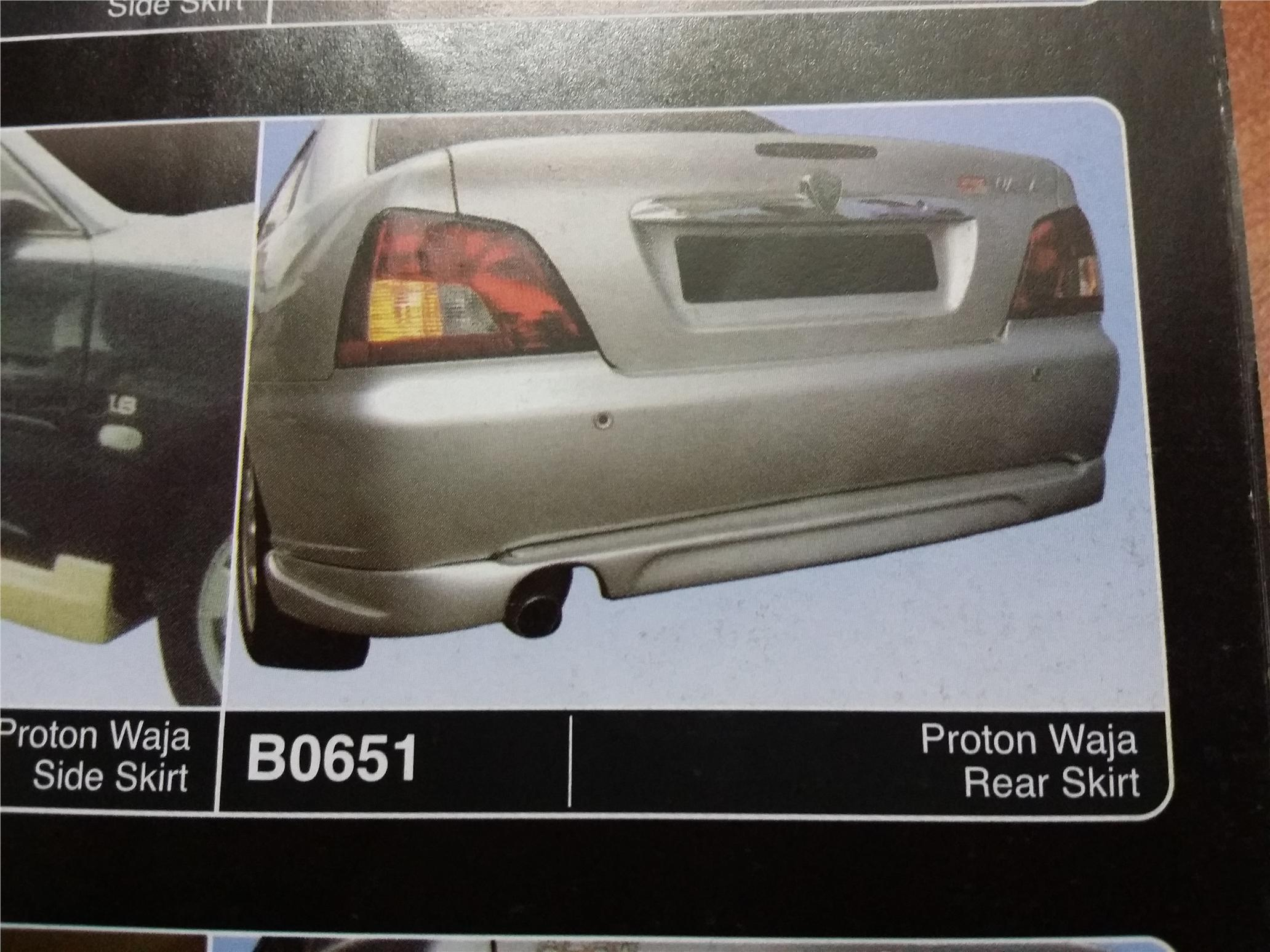 PROTON WAJA REAR SKIRT B0651