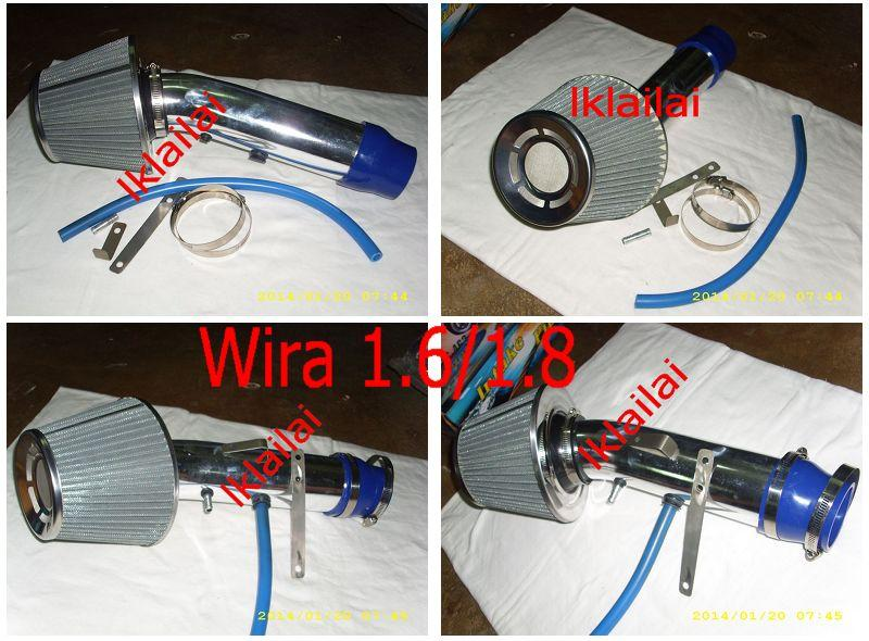 Proton Wira 1.6cc and 1.8cc Injection Ram Pipe Kit With Air Filter