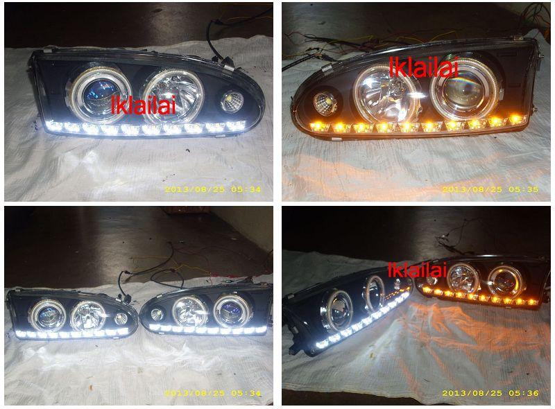 Proton WIRA / SATRIA CCFL Ring Projector Head Lamp 2-Function DRL R8