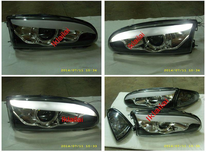 Proton WIRA / SATRIA LED Eye Brown Projector Head Lamp Set