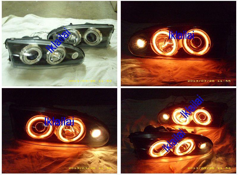 Proton WIRA/SATRIA Projector Head Lamp [LED Change to CCFL Ring]