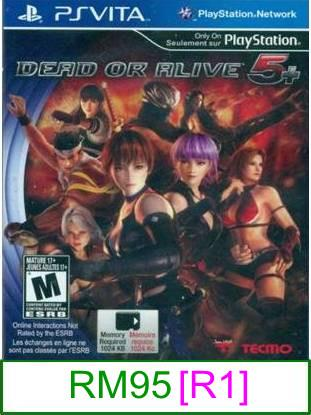 PS VITA Dead or Alive 5 Plus [R1] ★Brand New & Sealed★