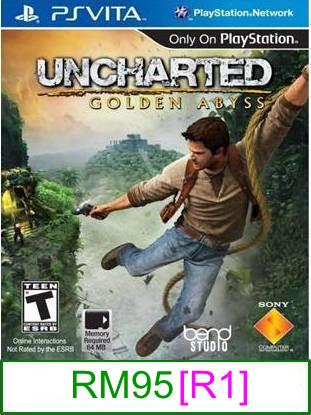 PS VITA Uncharted Golden Abyss [R1] ★Brand New & Sealed★