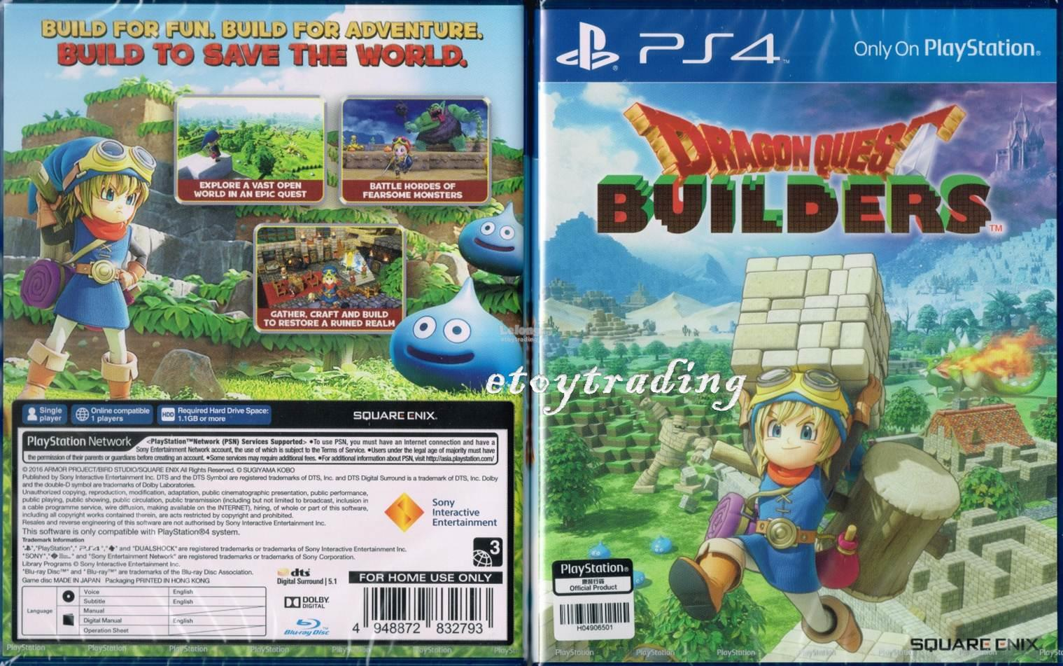 PS4 DRAGON QUEST BUILDERS R3 RM70 WHATSAPP/SMS +60102209266
