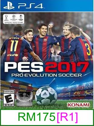 PS4 PES 2017 [R1] ★Brand New & Sealed★
