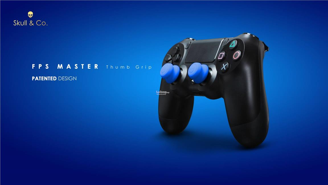 [NEW] PS4 Skull & Co. Silicon Thumb Grip BLUE [ORIGINAL] FPS Master