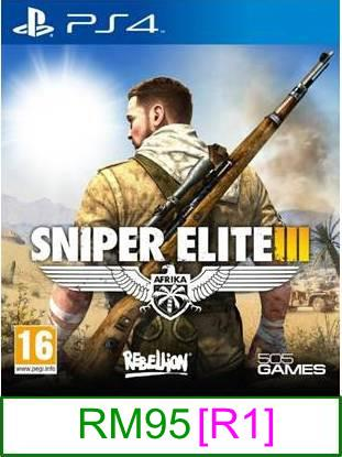 PS4 Sniper Elite III [R1] ★Brand New & Sealed★