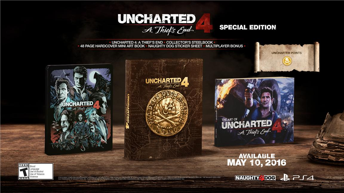 PS4 UNCHARTED 4 A Thief's End Special Edition