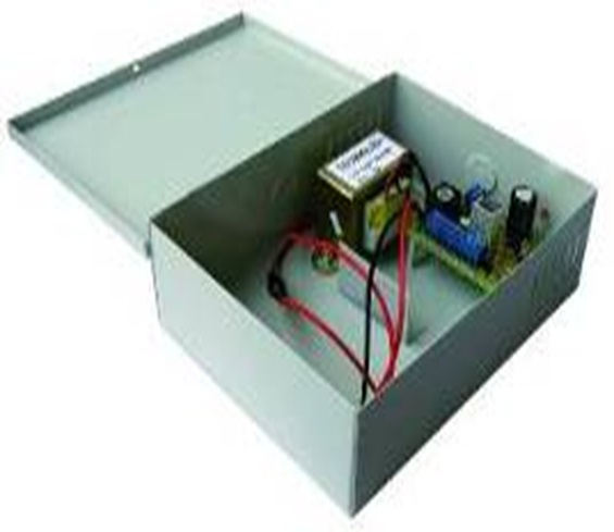 PSB007 12VDC 5A Power supply with battery charger in metal housing