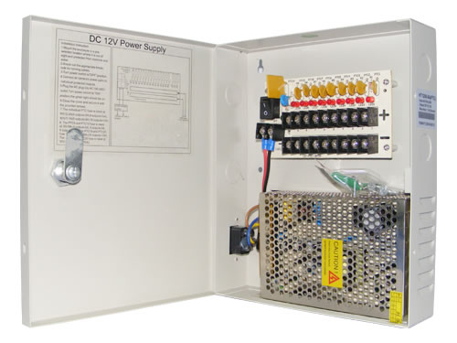 PSD12095A 12V 5A 9-way Power supply Distribution for CCTV cameras