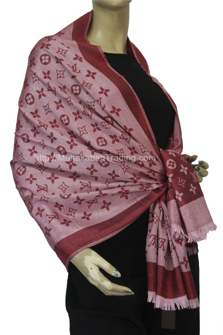 PSLV003: Koleksi selendang pashmina wraps throw blanket
