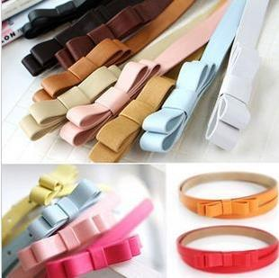 PU Leather Double Ribbon Belt 14116