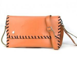 PU Leather Single Shoulder Bag 13842 (Orange)