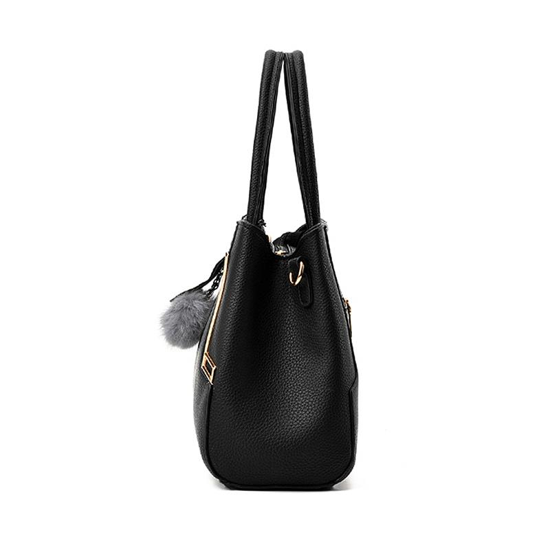 PU Leather Top-handle Handbag Elegant Luxury Girls Shoulder Bag