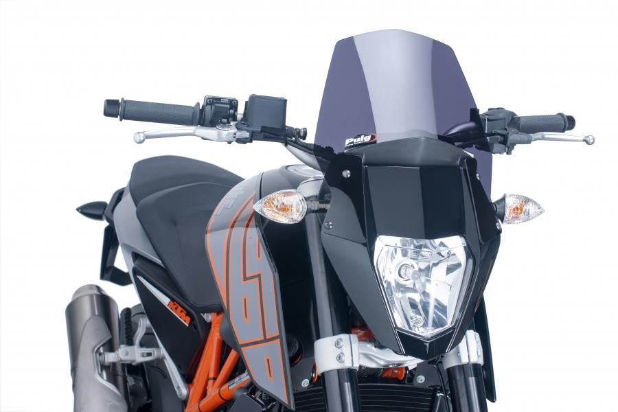 PUIG Windscreen Naked for KTM 690 Duke 2012-2015 (DARK SMOKE)