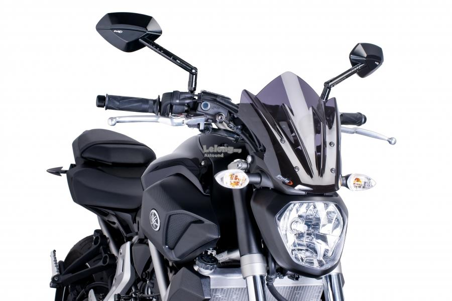 PUIG Windshield for Yamaha MT-07 - SPORT (DARK SMOKE)