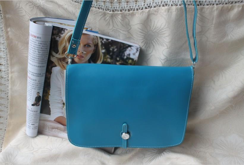 Pure Color All Match Single Shoulder Bag Deep Blue