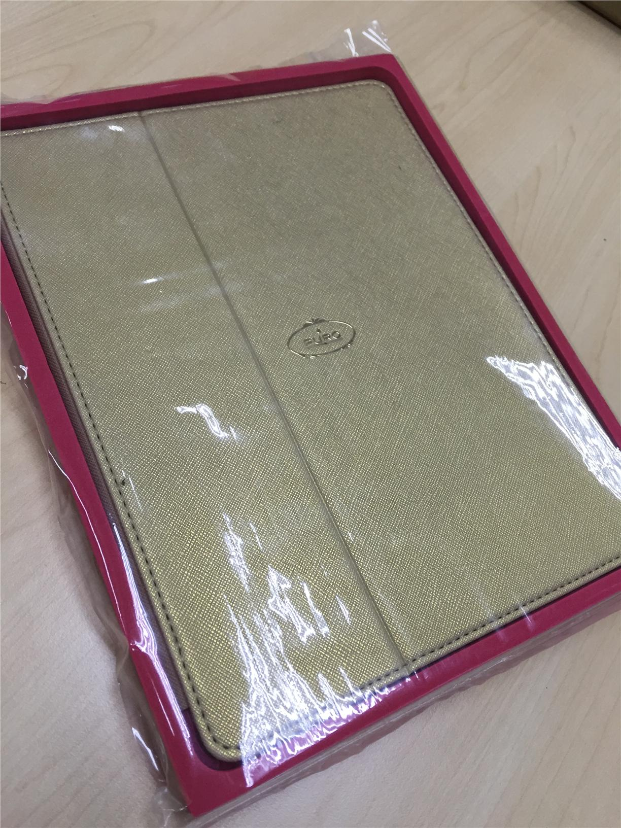 Puro Booklet i{Pad 2/3 Switch ECO Leather Gold (Poor packaging)
