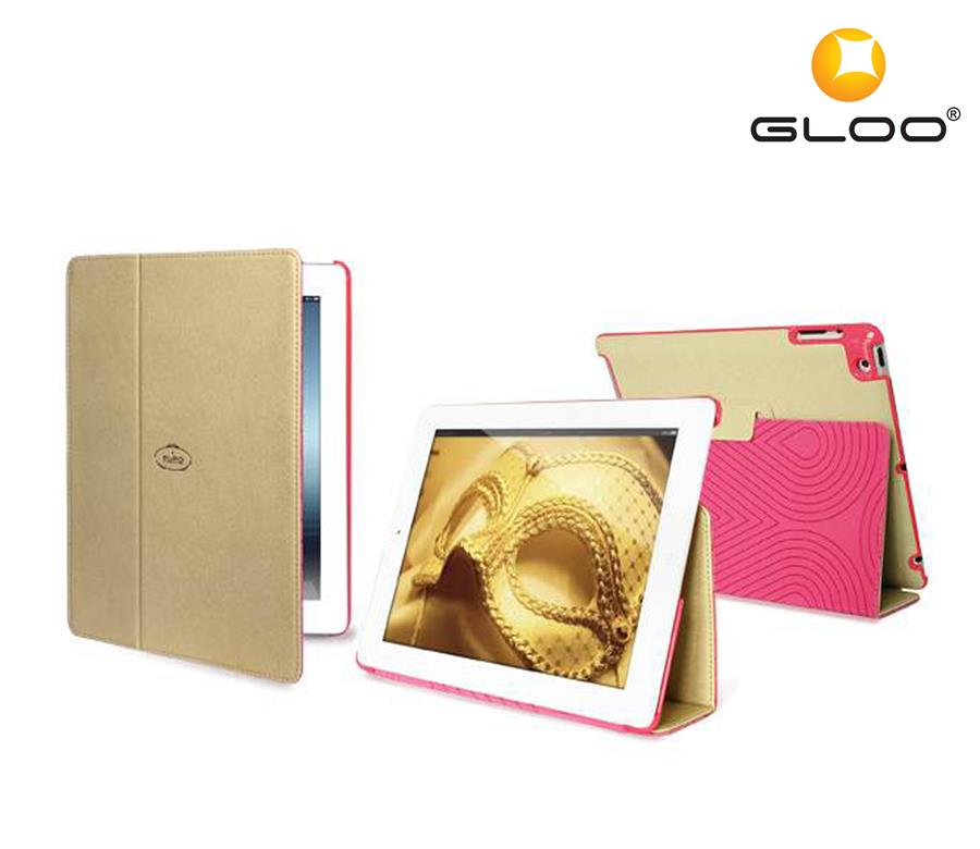 Puro Booklet Ipad2/3 Switch ECO Leather Gold