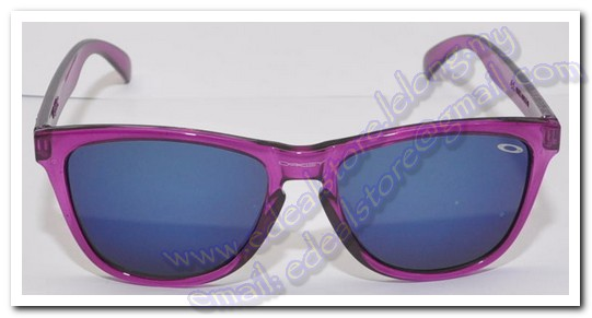Purple Oakley Frogskins Sunglass Grey Lens