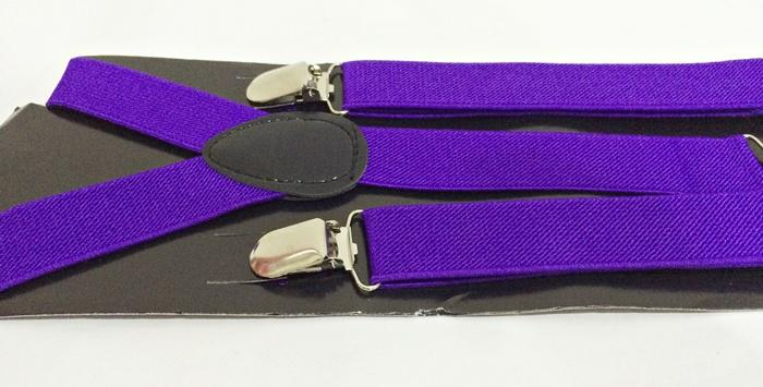 Purple Suspender/Braces (Free Shipping)