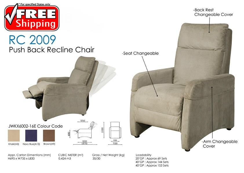 Push back recline relax chair sofa fo end 4 9 2018 1 15 pm for Sofa bed penang
