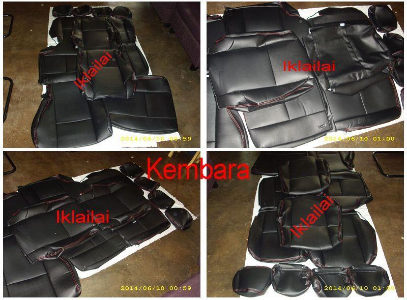 PVC CAR SEAT COVER /CUSHION for Proton Preve Premium Black with Red Li