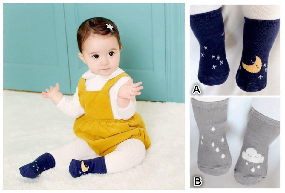 PW0091 CUTIE MOON & CLOUD SOCK