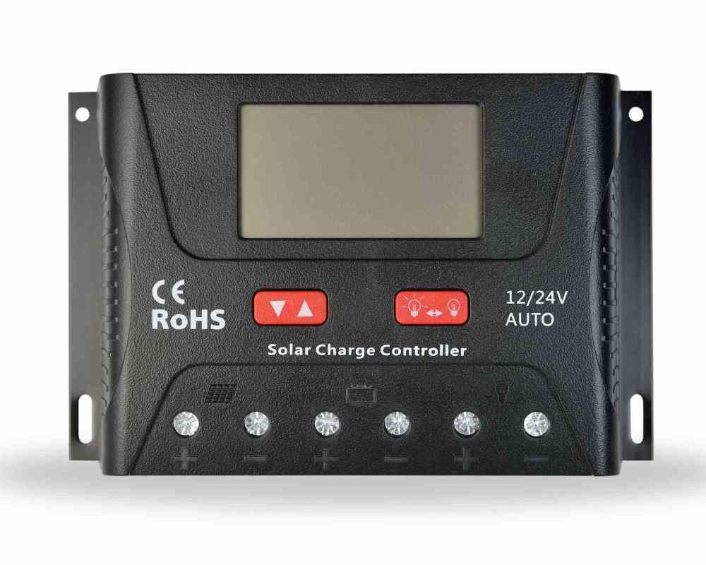 PWM 40A 12V/24V Solar Charge Controller with USB Output Port