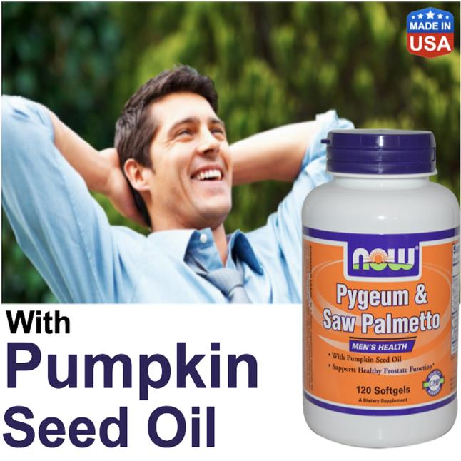 Pygeum & Saw Palmetto With Pumpkin Seed Oil, Prostate, DHT Blocker