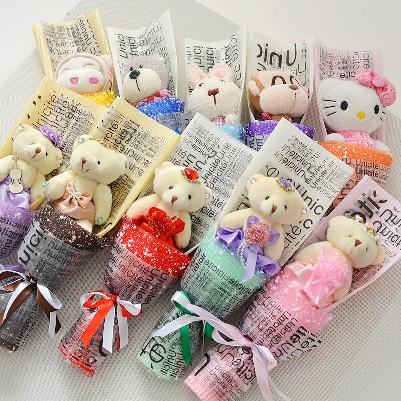 Q Size Anime Doll Cartoon bouquet Birthday Valentine Gift Set