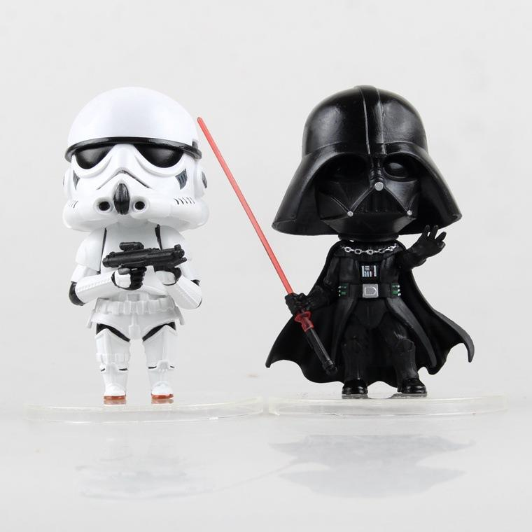 Q version of Darth Vader & Stormtrooper Figure
