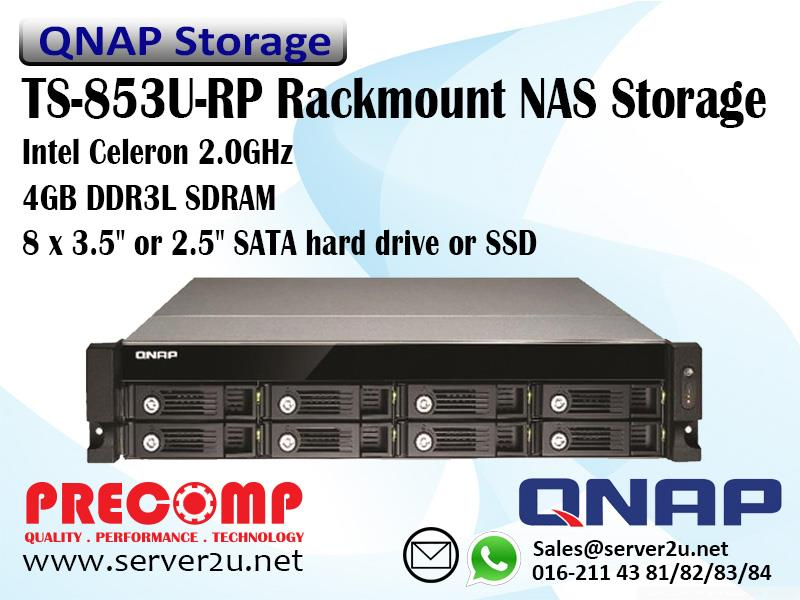 QNAP Business ‐Middle End Rackmount NAS Storage(4GB)(TS-853U-RP)