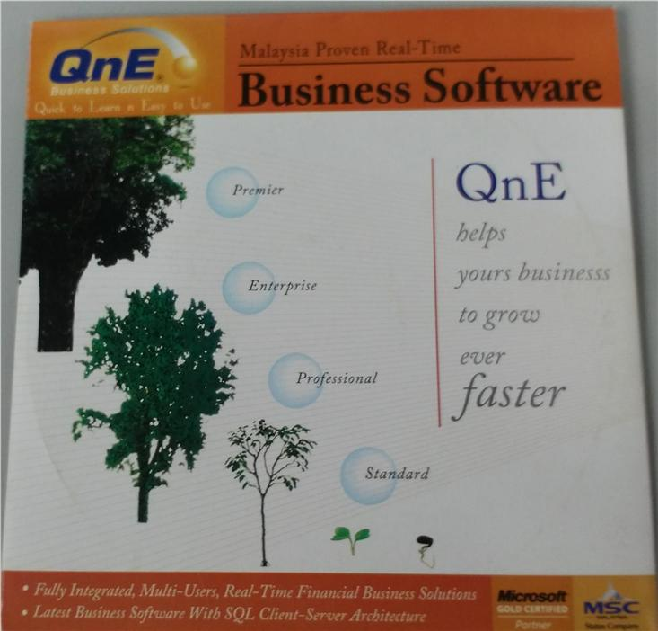 QNE Software Installation CD (Delphi) - Accounting,Stock and Billing