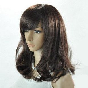Quality Medium hair wig LL89  fringe wigs natural rambut palsu ..