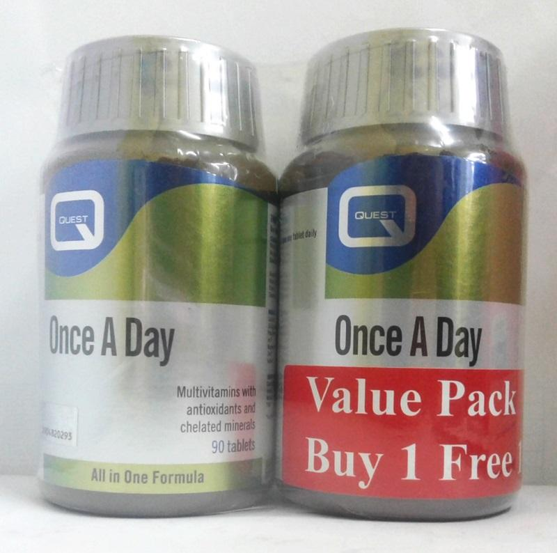 QUEST ONCE A DAY MULTIVITAMINS VALUE PACK BUY 1 FREE 1 90+90s