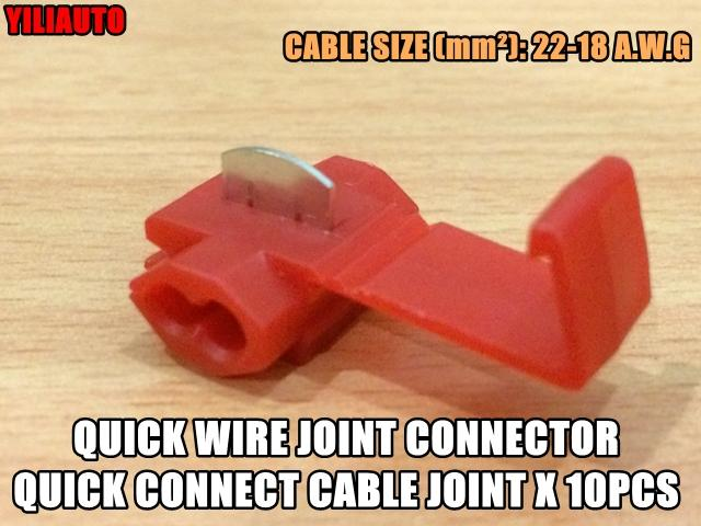 Quick Wire Joint Connector Quick Connect Cable Joint 10pcs 22-18 A.W.G