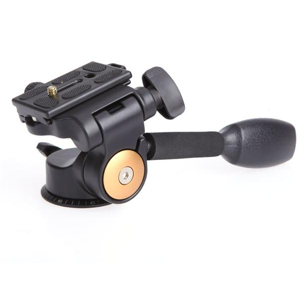 QZSDQ08 Video Tripod Ball Fluid Head 3way Rocker Arm and Release Plate