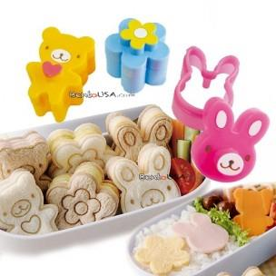 RABBIT BEAR FLOWER BENTO MOULD BREAD CUTTER