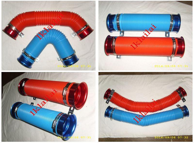 RACING SPORT Aluminum Cold Air Filter Intake Pipe [Red / Blue]