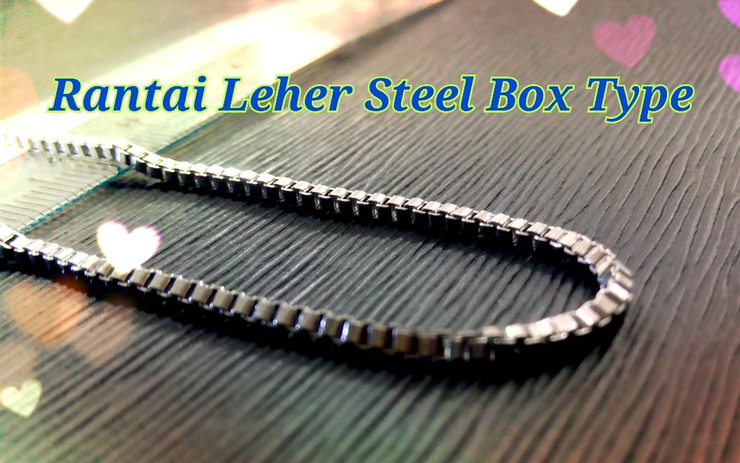 Rantai Leher Stainless Steel Box Type 44/0.2cm