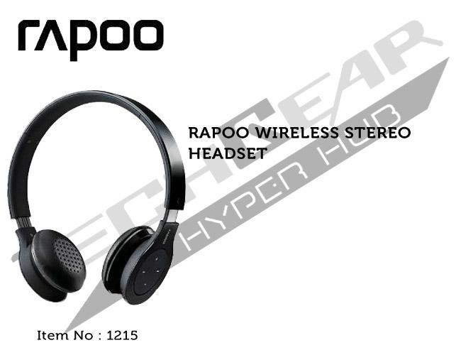 RAPOO WIRELESS STEREO HEADSET BLACK