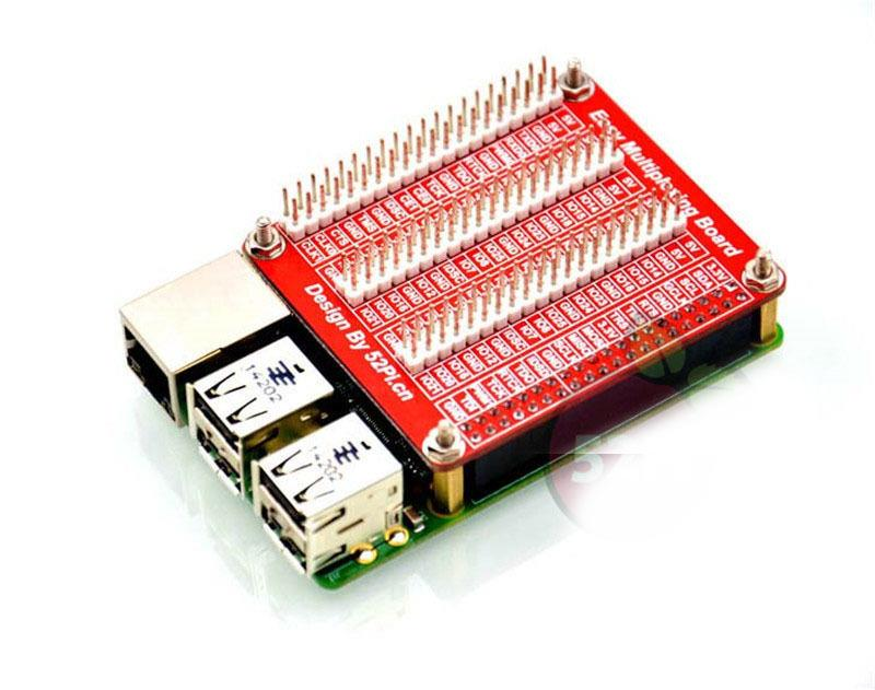 Raspberry Pi 2 Model B/B+ Triple GPIO Multiplexing Expansion Board