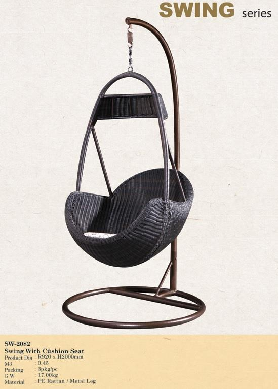 Rattan Swing with Cushion Seat (SW-2082)