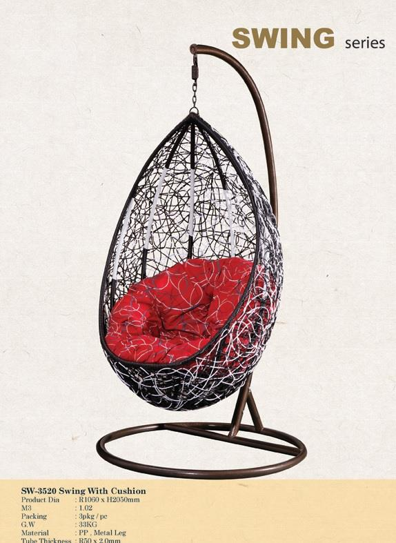 Rattan Swing with Cushion (SW-3520)