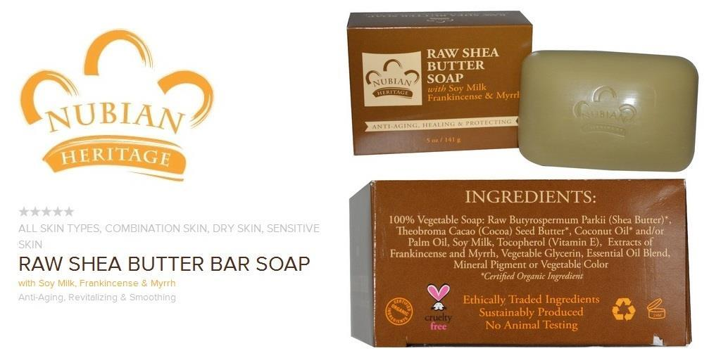 Raw Shea Butter Soap with Soy Milk, Frankincense & Myrrh 141 g (USA)