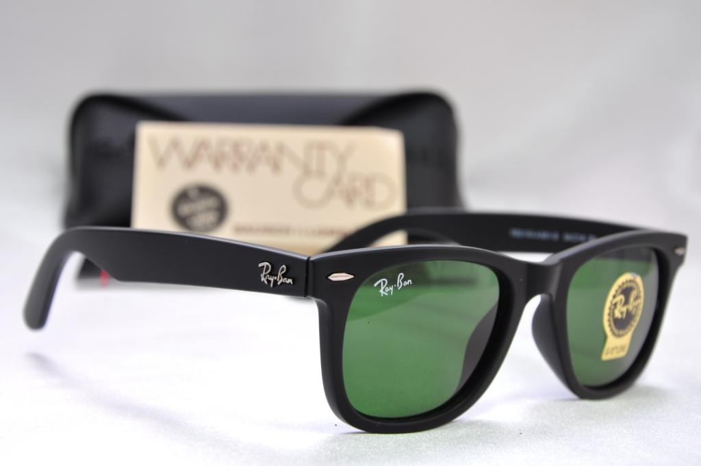 wayfarer ray ban 8ttw  Ray Ban RB3422Q Sunglasses Gunmetal Frame Grey Gradient Green Le
