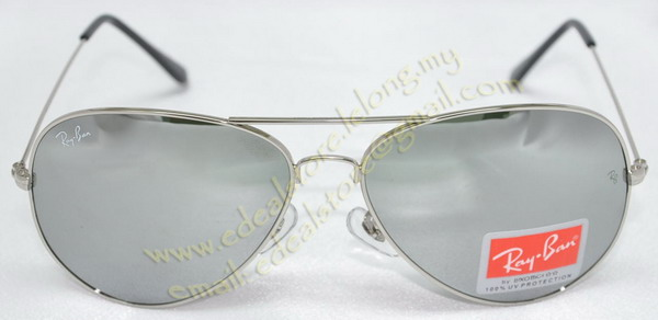 ray ban aviators mirrored lenses. Rayban Aviator Sunglass Silver Frame / Silver Mirror Lens Click To Enlarge